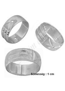 Széles atlantiszi gyűrű, ezüst ékszer minden méretben ( 1 cm szélesség )