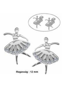 Táncos balerina néptáncos fülbevaló, ezüst ékszer