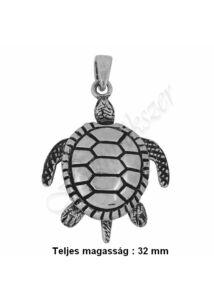 Tengeri teknős medál, mozgó ezüst ékszer AKCIÓ !