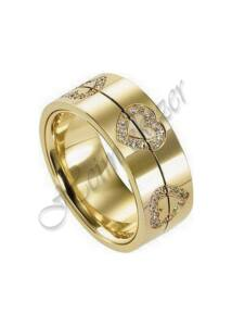 Arany ékszer, arany szíves gyűrű