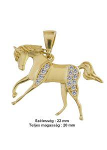 Vágtázó paripa - ló medál, arany ékszer