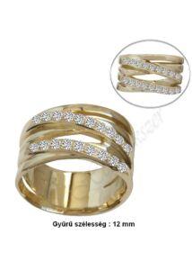 Mutatós, széles arany gyűrű, arany ékszer minden méretben