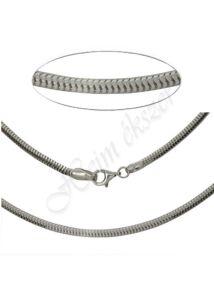Vastag kígyólánc - deréklánc, ezüst ékszer több hosszúságban