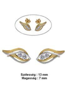 Védő szem arany fülbevaló, arany ékszer