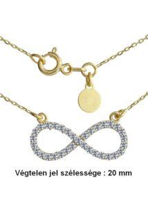 Végtelen jeles Infinity nyaklánc, arany ékszer