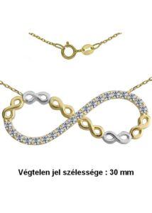 Végtelen jellel díszített Infinity nyaklánc, arany ékszer