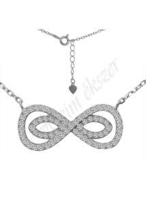 Végtelen jel ( infinity ) nyaklánc, ezüst ékszer