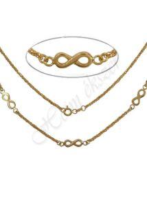 Végtelen jeles arany nyaklánc, arany ékszer