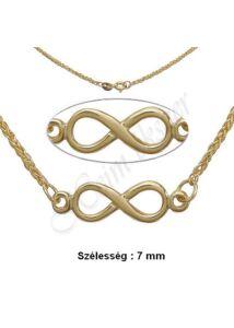 Végtelen jeles nyaklánc, Infinity lánc, arany ékszer