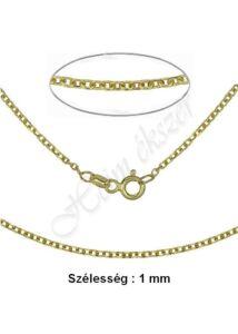 Vékony anker nyaklánc, arany ékszer több hosszúságban