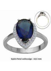 Zafír köves ezüst gyűrű, ezüst ékszer minden méretben