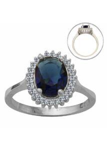 Zafír köves ezüst gyűrű, ezüst ékszer