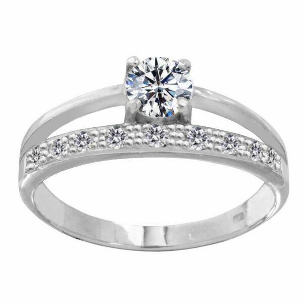 Többsoros köves gyűrű, ezüst ékszer ( kísérő gyűrű jelleg )