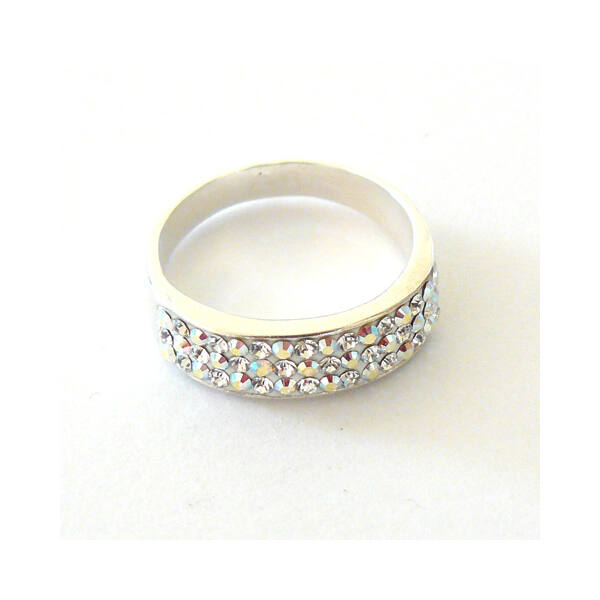 Ezüst ékszer, Swarovski kövekkel díszített gyűrű