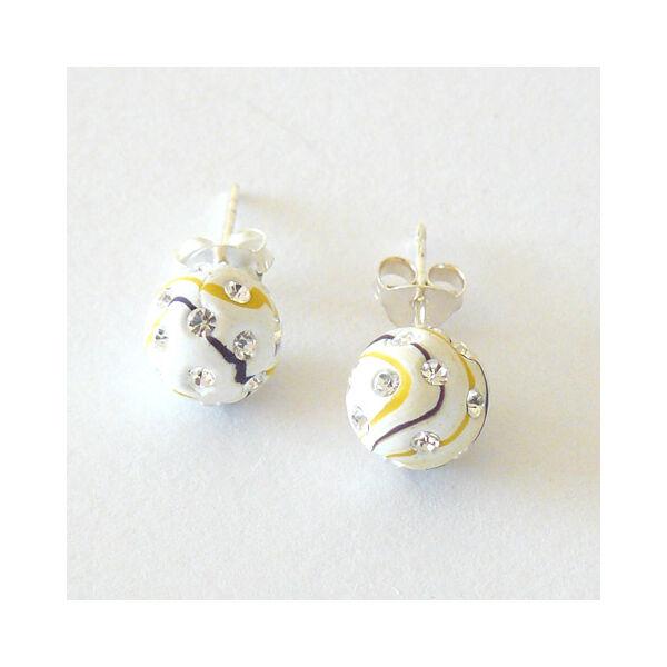 Swarovski crystal kövekkel díszített fülbevaló, ezüst ékszer