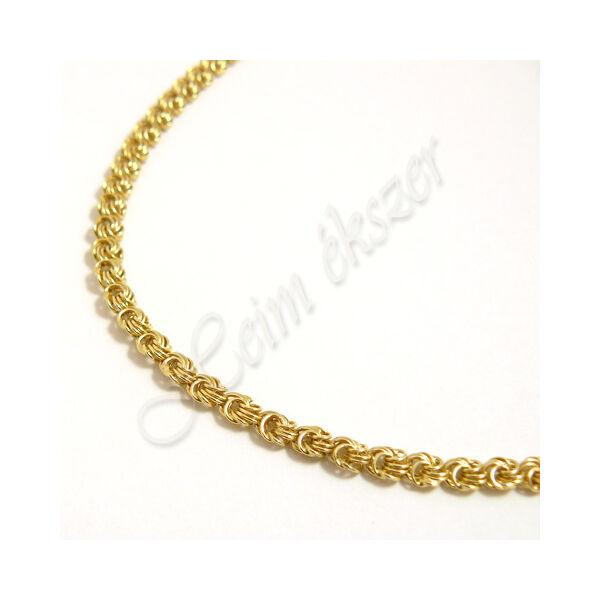 Sárga arany rózsalánc, arany ékszer