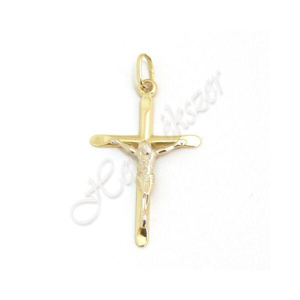 Kereszt medál Jézussal, mutatós arany ékszer