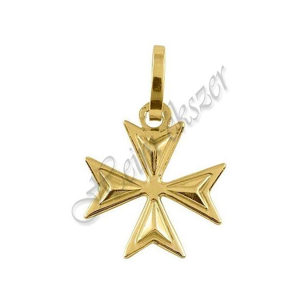 Máltai kereszt medál, arany ékszer