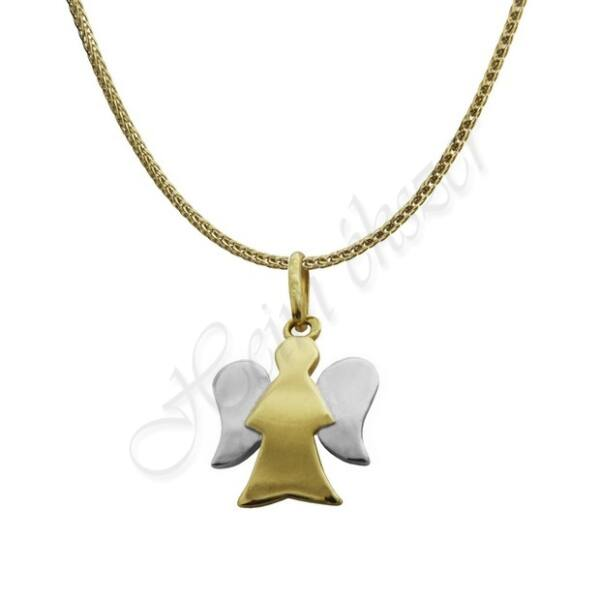 Arany angyalka medál vékony nyaklánccal garnitúra Heim Ékszer webáruház