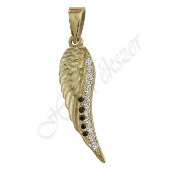 Arany angyalszárny medál, arany ékszer