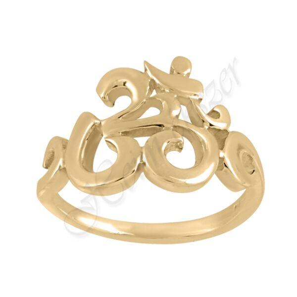 Arany Aum gyűrű Heim Ékszer webáruház