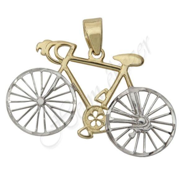 Arany bicikli medál Heim Ékszer webáruház