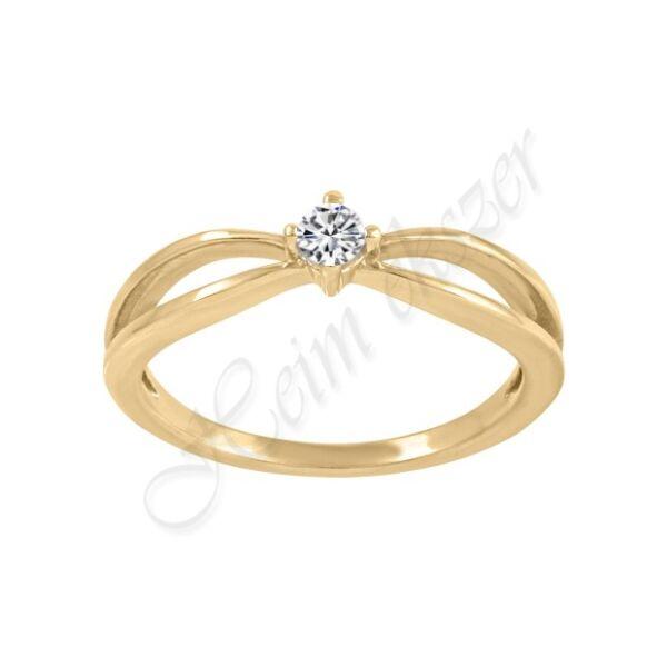 Arany gyűrű 1 köves Heim ékszer Webáruház