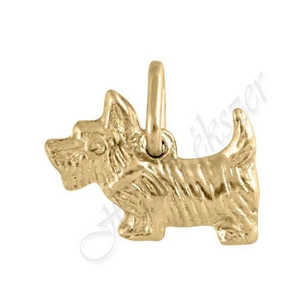 Arany pici Westie kutya medál Heim Ékszer webáruház