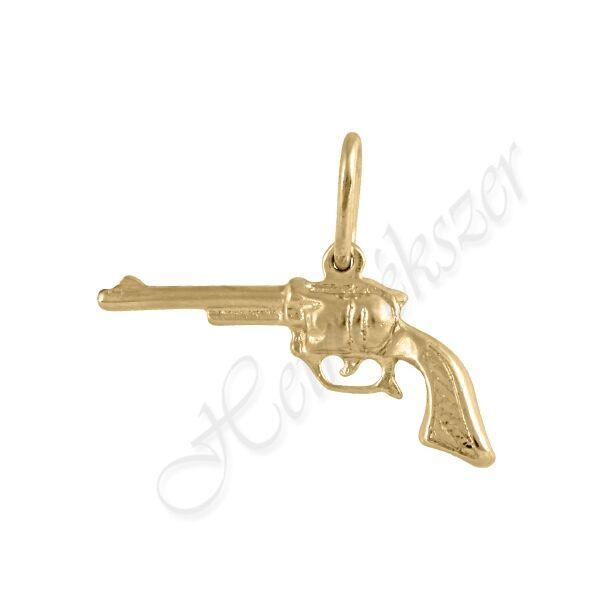 Arany pisztoly medál Heim Ékszer webáruház