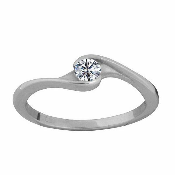 Egy köves gyűrű, fehér arany ékszer minden méretben