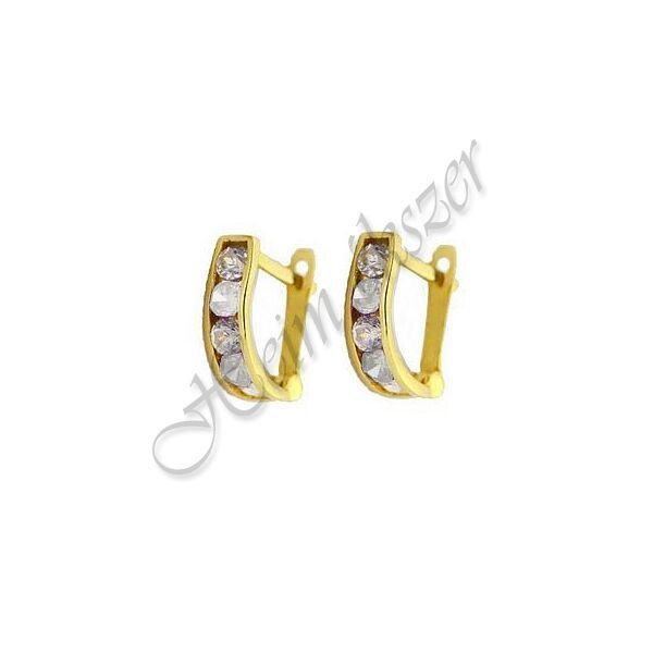 Arany ékszer, arany U alakú gyermek fülbevaló