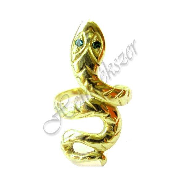 Arany ékszer, kígyó gyűrű