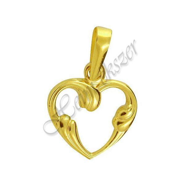 Arany ékszer, arany szív medál