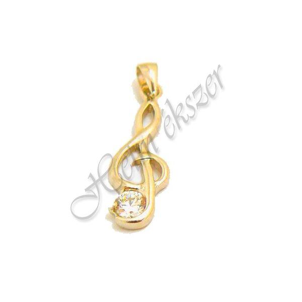 Arany ékszer, arany violinkulcs medál
