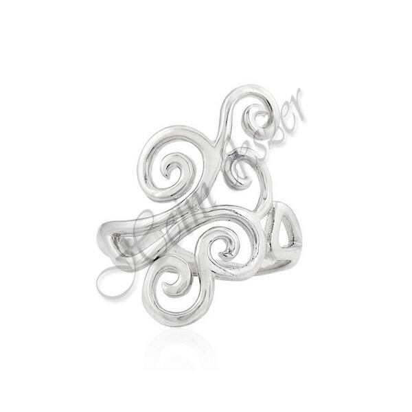 Ezüst ékszer, egyedi barokk ezüst gyűrű