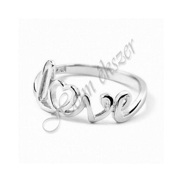 Ezüst ékszer, ezüst love gyűrű