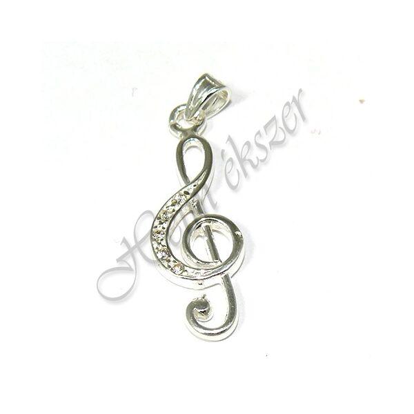 Violinkulcs medál, mutatós ezüst ékszer