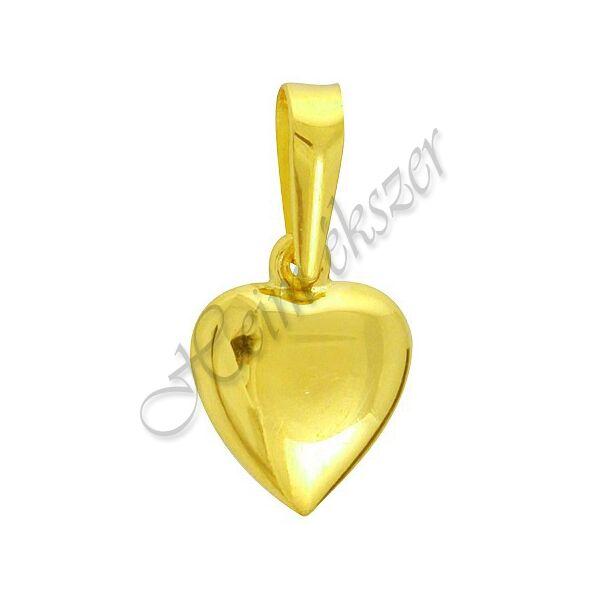 Szív medál, duci arany ékszer