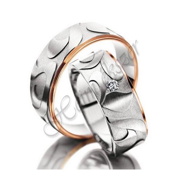 Egyedi karikagyűrű, jegygyűrű ( 73 ), arany ékszer