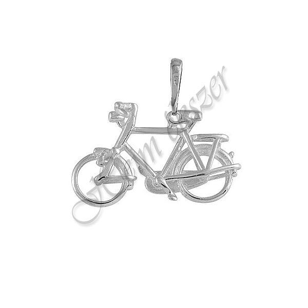 Ezüst bicikli, kerékpár medál, ezüst ékszer