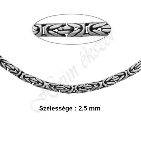Ezüst királylánc 2,5 mm széles Heim Ékszer webáruház