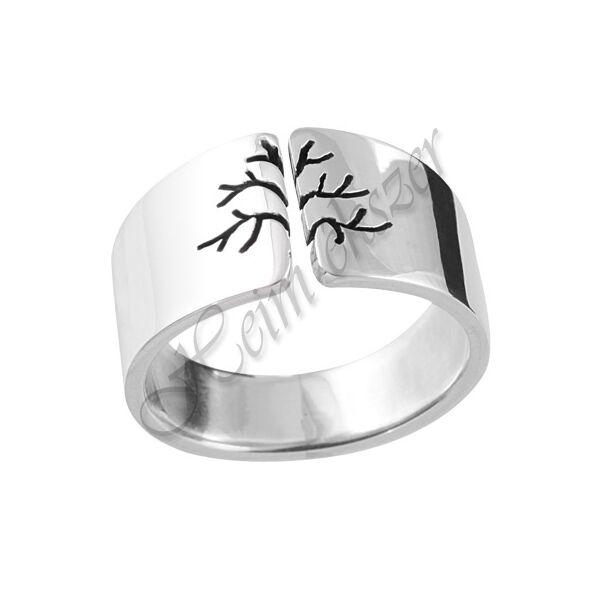 Életfa, világfa gyűrű, ezüst ékszer