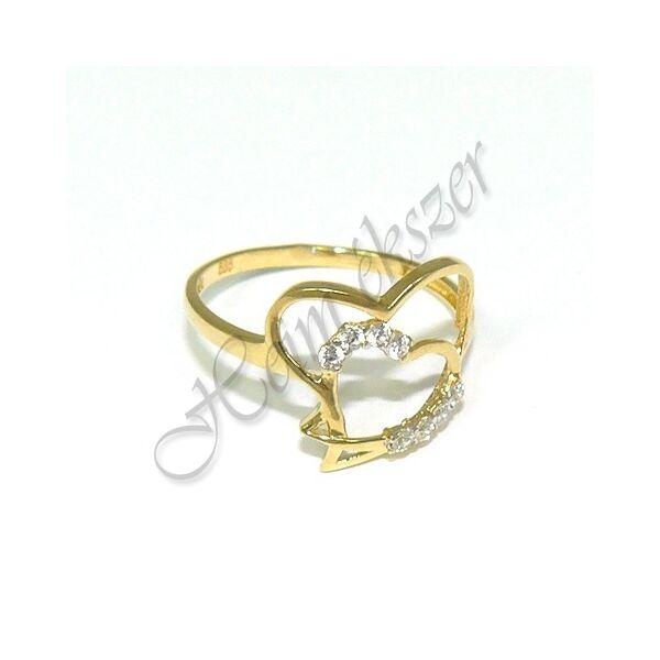 Arany ékszer, egyedi sárga arany gyűrű