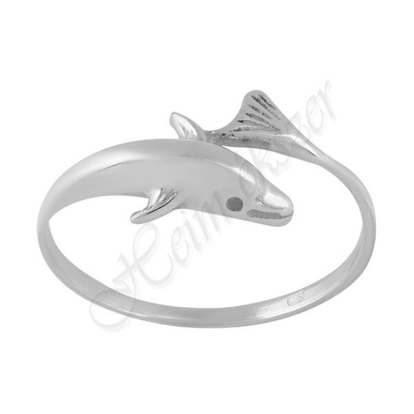 Fehér arany delfines gyűrű Heim Ékszer webáruház