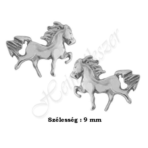 Fehér arany pici lovacska fülbevaló Heim Ékszer Webáruház
