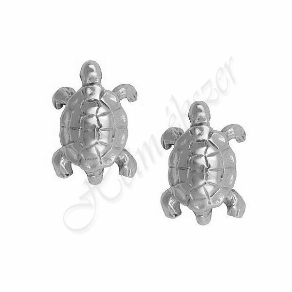 Fehér arany teknős fülbevaló Heim Ékszer webáruház