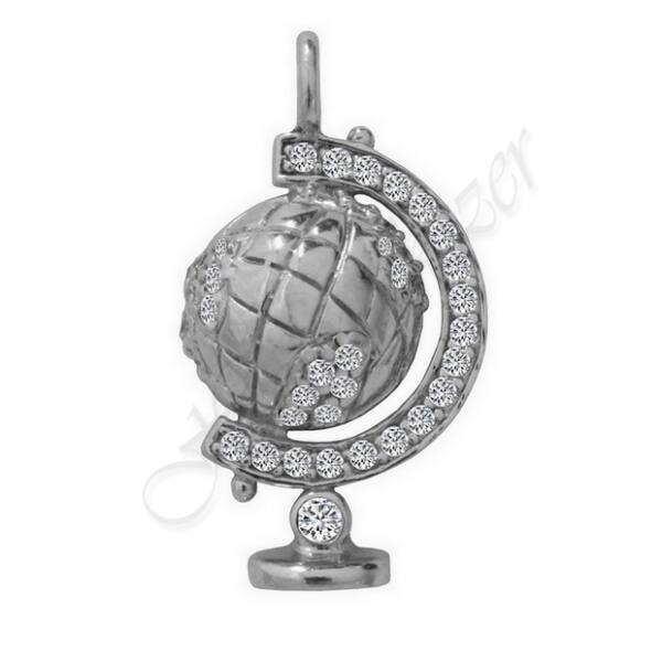 Földgömb ezüst medál Heim Ékszer webáruház