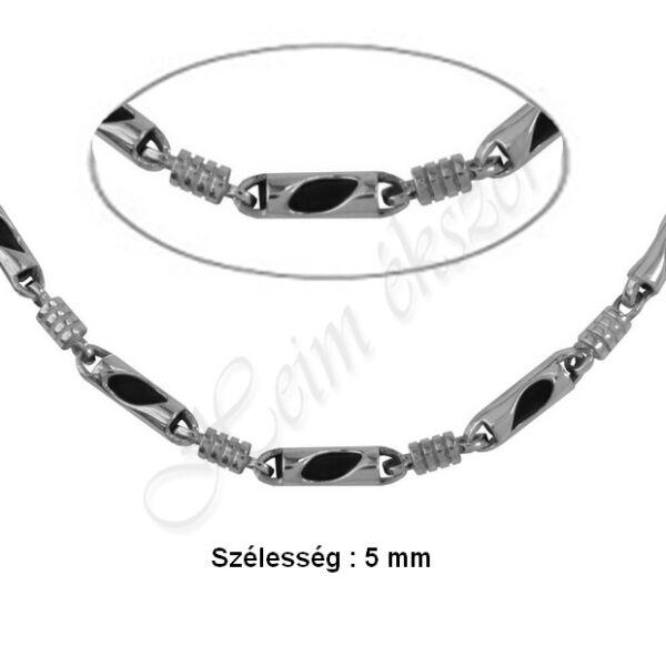Férfi ezüst - kaucsuk nyaklánc Heim Ékszer webáruház