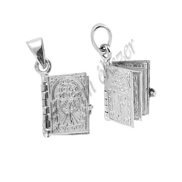 Ezüst Biblia medál, ezüst ékszer