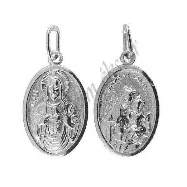 Karmel-hegyi Boldogasszony medál, ezüst ékszer